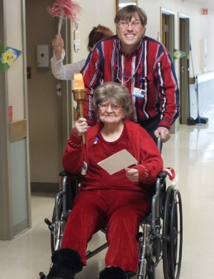 Senior patients participating in Olympic Games